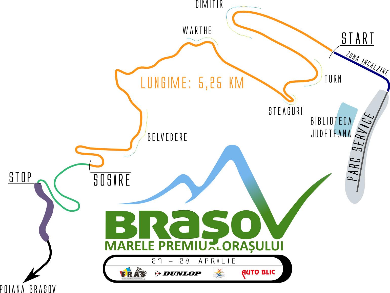 Harta Raliul Brasovului aprilie 2013
